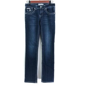 Sisly Dark Washed Straight Leg Jeans